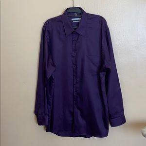 Men's purple button up